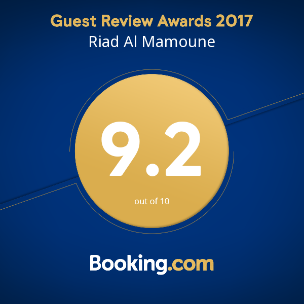 Riad Al Mamoune Booking.com 9.2